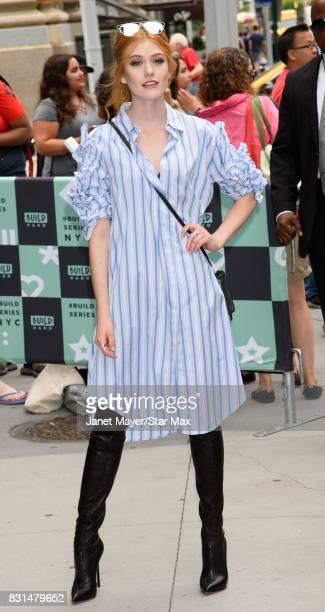 Katherine McNamara is seen on August 14 2017 in New York City