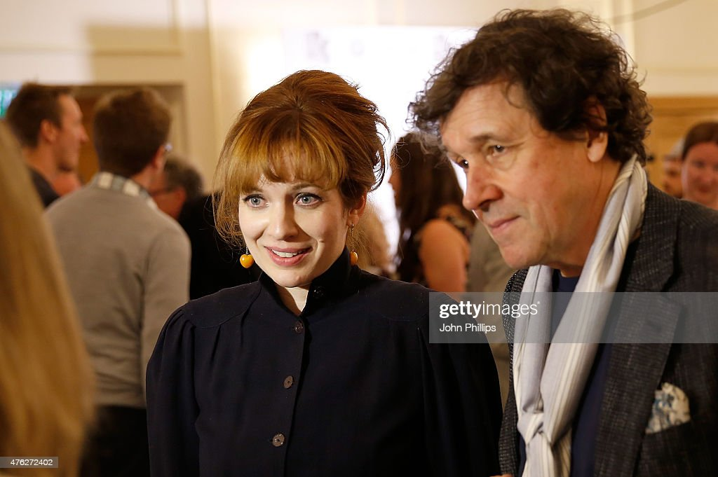 Katherine Parkinson and Stephen Rea at the South Bank Sky Arts Awards at The Savoy Hotel on June 7 2015 in London England