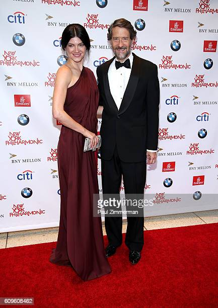 Katherine Parr and Gary Parr attend the 175th Season New York Philharmonic opening gala concert at David Geffen Hall on September 21 2016 in New York...