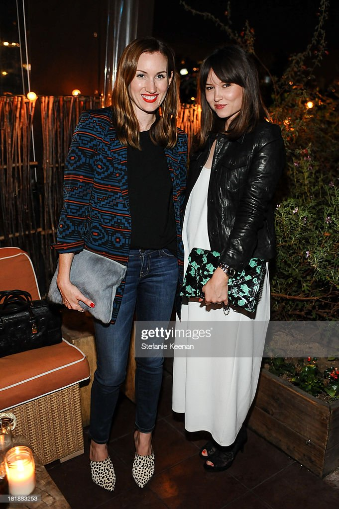 Katherine Power and Geri Hirsch attend an intimate dinner event hosted by Elle magazine and J Brand at Petit Ermitage Hotel on September 25, 2013 in West Hollywood, California.