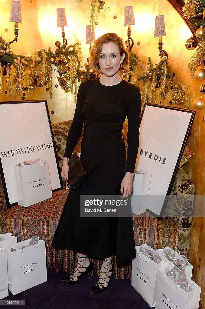 Katherine Power attends the WhoWhatWear UK Launch at Loulou's on November 24, 2015 in London, England.