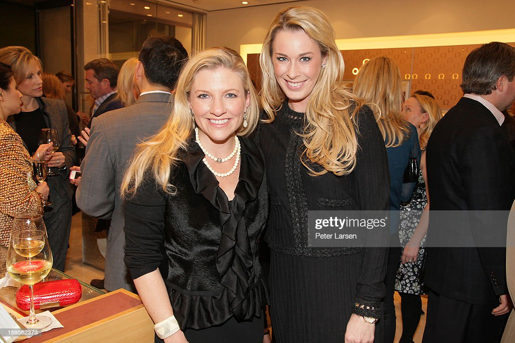 Katherine Reeves and Danya Anderson attend the Grand Opening of the Omega Boutique at NorthPark on January 15, 2013 in Dallas, Texas.