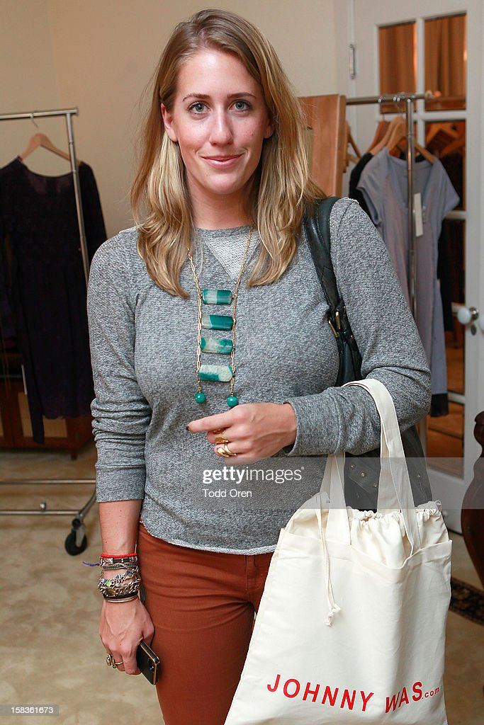 Katherine Romeyn from Foam Magazine shops at the Johnny Was Holiday Gifting Suite at Chateau Marmont on December 13, 2012 in Los Angeles, California.