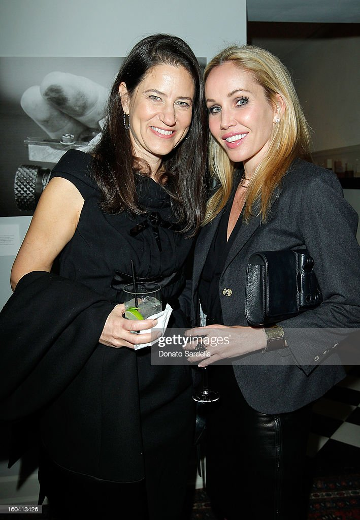 Katherine Ross (L) and Brooke Davenport attend Hoorsenbuhs for Forevermark Collection cocktail party at Chateau Marmont on January 30, 2013 in Los Angeles, California.