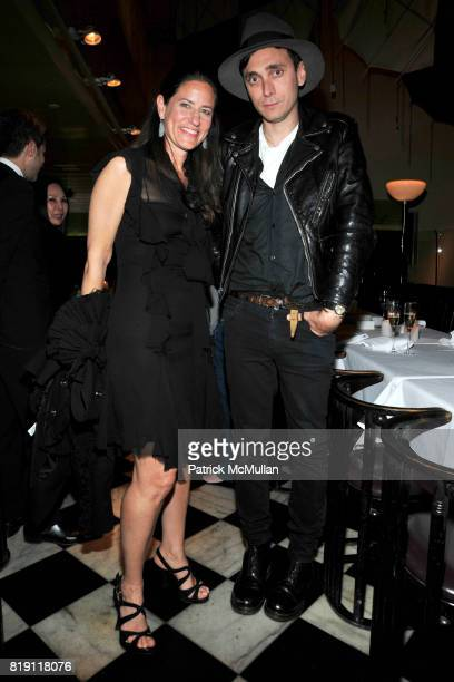 Katherine Ross and Hedi Slimane attend LARRY GAGOSIAN hosts a Private Dinner for the ANDREAS GURSKY Opening Exhibition at GAGOSIAN GALLERY at Mr Chow...