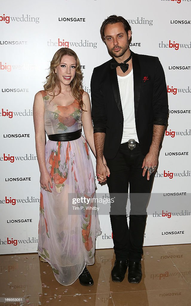 Katherine Ryan and guest attend Special screening of 'The Big Wedding' at May Fair Hotel on May 23, 2013 in London, England.