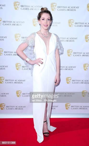 Katherine Ryan attending the British Academy Games Awards at Tobacco Dock London