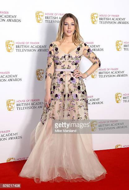 Katherine Ryan poses in the winners room at the House Of Fraser British Academy Television Awards 2016 at the Royal Festival Hall on May 8 2016 in...