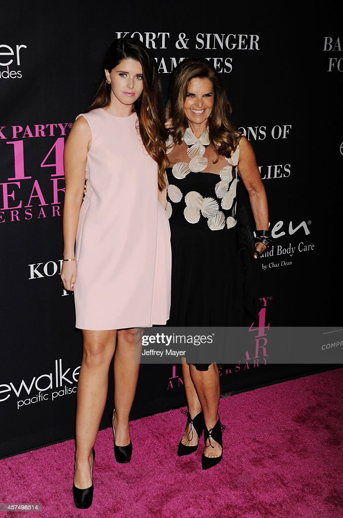 Katherine Schwarzenegger and journalist/author Maria Shriver attend Elyse Walker presents the 10th anniversary Pink Party hosted by Jennifer Garner...