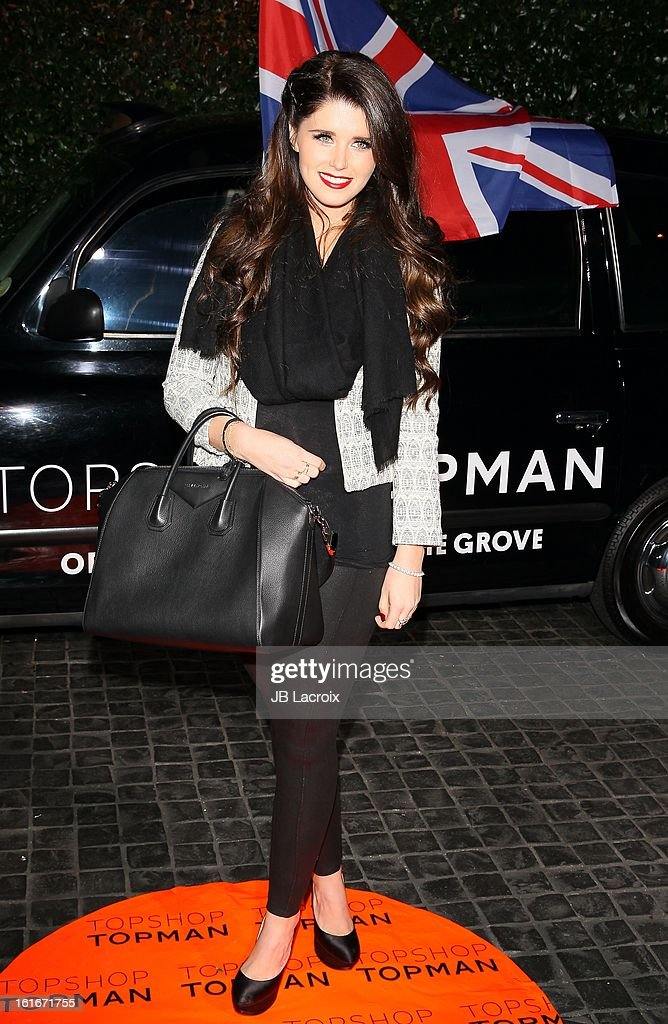 Katherine Schwarzenegger attends the Topshop Topman LA Opening Party held at Cecconi's Restaurant on February 13, 2013 in Los Angeles, California.