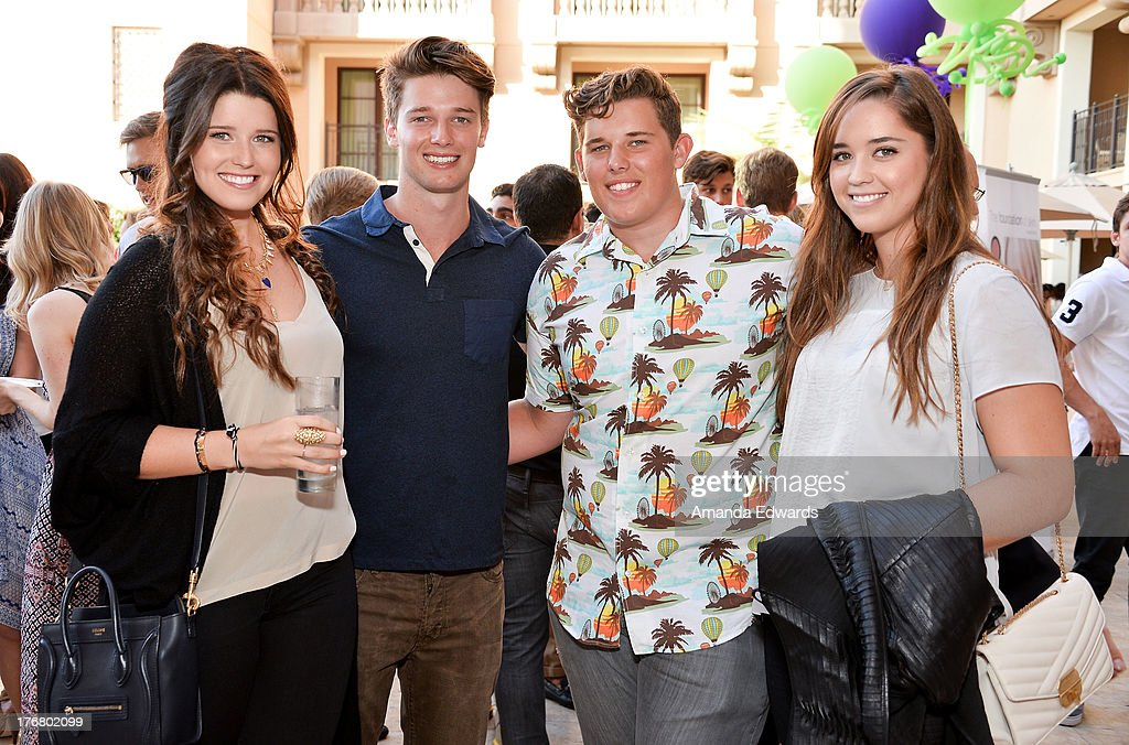 <a gi-track='captionPersonalityLinkClicked' href=/galleries/search?phrase=Katherine+Schwarzenegger&family=editorial&specificpeople=962036 ng-click='$event.stopPropagation()'>Katherine Schwarzenegger</a>, <a gi-track='captionPersonalityLinkClicked' href=/galleries/search?phrase=Patrick+Schwarzenegger&family=editorial&specificpeople=540253 ng-click='$event.stopPropagation()'>Patrick Schwarzenegger</a>, <a gi-track='captionPersonalityLinkClicked' href=/galleries/search?phrase=Christopher+Schwarzenegger&family=editorial&specificpeople=707420 ng-click='$event.stopPropagation()'>Christopher Schwarzenegger</a> and <a gi-track='captionPersonalityLinkClicked' href=/galleries/search?phrase=Christina+Schwarzenegger&family=editorial&specificpeople=2376124 ng-click='$event.stopPropagation()'>Christina Schwarzenegger</a> attend the Team Maria benefit for Best Buddies at Montage Beverly Hills on August 18, 2013 in Beverly Hills, California.