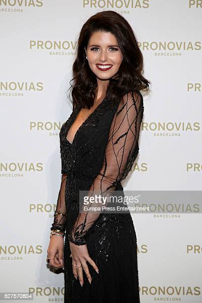 Katherine Schwarzenegger poses during Pronovias bridal collection during the 'Barcelona Bridal Fashion Week 2016' at Italian Pavilion of Fira...