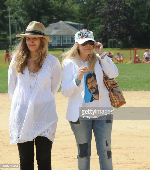 Katherine Wallach and Roberta Wallach Eli Wallach's daughters attend the 2014 East Hampton Artists Writers Celebrity Softball Game at Herrick Park on...