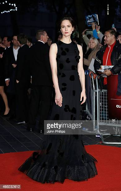Katherine Waterston attends the 'Steve Jobs' Closing Night Gala during the BFI London Film Festival at Odeon Leicester Square on October 18 2015 in...