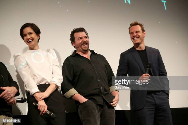 Katherine Waterston Danny McBride and Michael Fassbender attend a screening of the 1979 film Alien with previews of the new Alien Covenant at the...