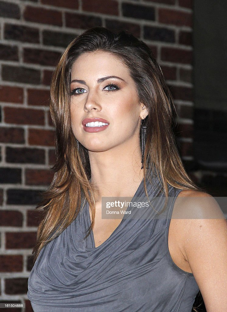 Katherine Webb leaves 'The Late Show with David Letterman' at Ed Sullivan Theater on February 11, 2013 in New York City.