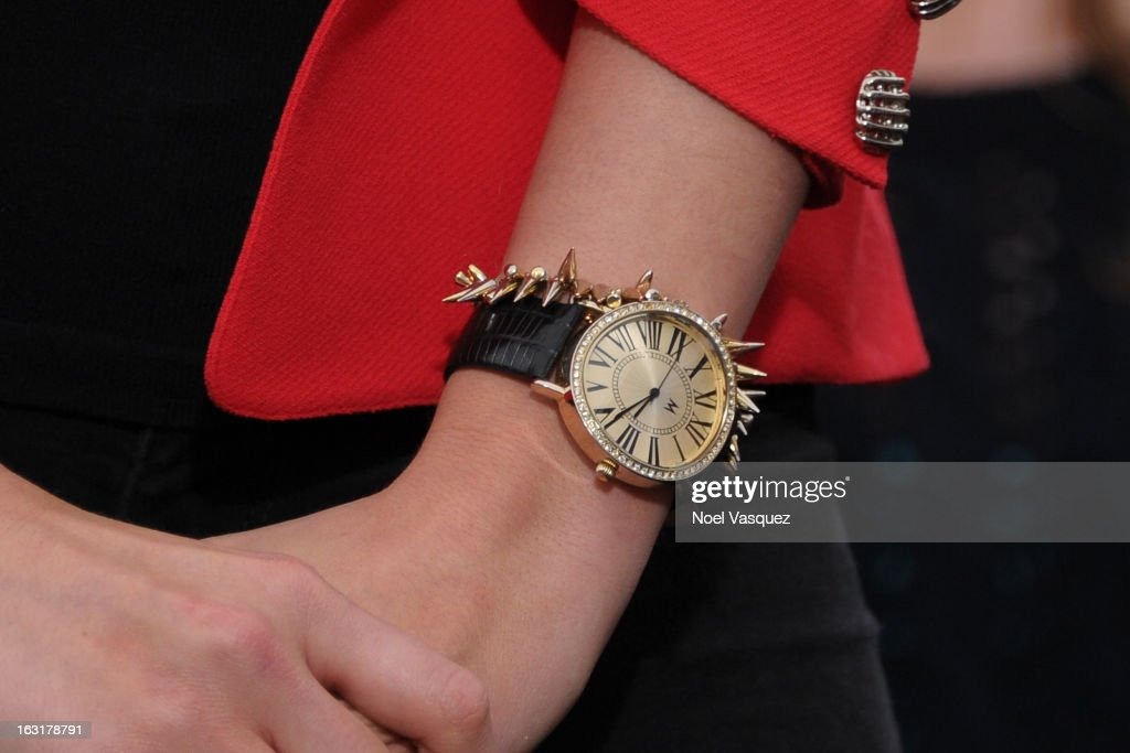 Katherine Webb (watch detail) visits 'Extra' at The Grove on March 5, 2013 in Los Angeles, California.