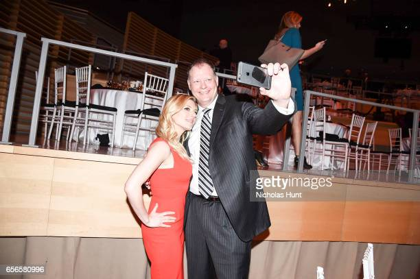 Katheryn Winnick and Peter Olsen attend the 2017 AE Networks Upfront At Jazz At Lincoln Center's Frederick P Rose Hall on March 21 2017 in New York...