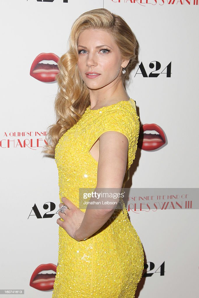 Katheryn Winnick attends the 'A Glimpse Inside The Mind Of Charlie Swan III' Los Angeles premiere at ArcLight Hollywood on February 4, 2013 in Hollywood, California.