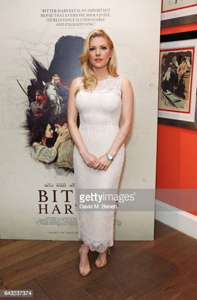 Katheryn Winnick attends the UK Gala Screening of 'Bitter Harvest' at The Ham Yard Hotel on February 20 2017 in London England