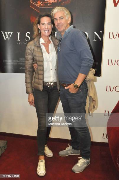 Kathi Stumpf and Alexander Beza pose during the 'Wish Upon' premiere in Vienna at Lugner Lounge Kino on July 25 2017 in Vienna Austria