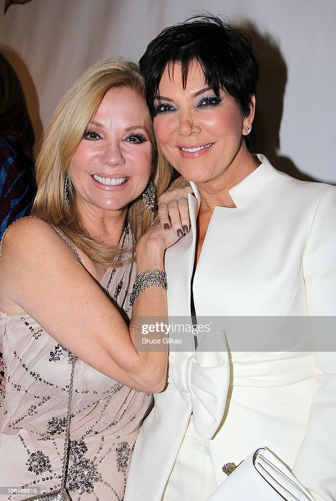 <a gi-track='captionPersonalityLinkClicked' href=/galleries/search?phrase=Kathie+Lee+Gifford&family=editorial&specificpeople=203269 ng-click='$event.stopPropagation()'>Kathie Lee Gifford</a> and <a gi-track='captionPersonalityLinkClicked' href=/galleries/search?phrase=Kris+Jenner&family=editorial&specificpeople=762610 ng-click='$event.stopPropagation()'>Kris Jenner</a> attend the opening night of 'Scandalous' on Broadway at the Neil Simon Theatre on November 15, 2012 in New York City.