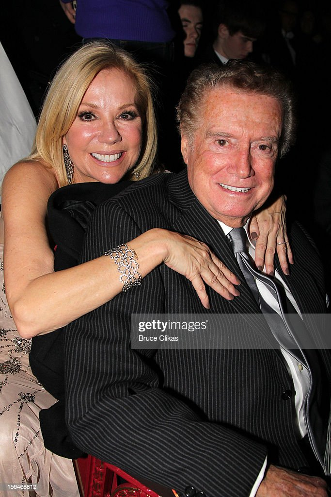 <a gi-track='captionPersonalityLinkClicked' href=/galleries/search?phrase=Kathie+Lee+Gifford&family=editorial&specificpeople=203269 ng-click='$event.stopPropagation()'>Kathie Lee Gifford</a> and <a gi-track='captionPersonalityLinkClicked' href=/galleries/search?phrase=Regis+Philbin&family=editorial&specificpeople=202495 ng-click='$event.stopPropagation()'>Regis Philbin</a> attend the opening night of 'Scandalous' on Broadway at the Neil Simon Theatre on November 15, 2012 in New York City.