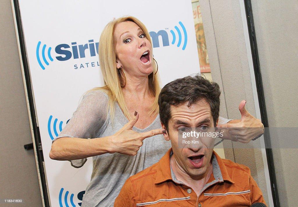 Kathie Lee Gifford and Seth Rudetsky of Seth Speaks visit SiriusXM Studio on July 6, 2011 in New York City.