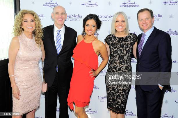 Kathie Lee Gifford Bill Abbott Danica McKellar Michelle Vicary and Ed Georger attend Crown Media's Upfront Event at Rainbow Room on March 29 2017 in...
