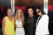 Kathie Lee Gifford Cassidy Gifford Kris Jenner and Kylie Jenner attend New Line Cinema's Premiere Of 'The Gallows' at Hollywood High School on July 7...