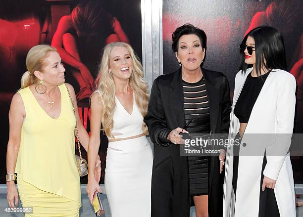 Kathie Lee Gifford Cassidy Gifford Kris Jenner and Kylie Jenner attend the premiere of 'The Gallows' at Hollywood High School on July 7 2015 in Los...