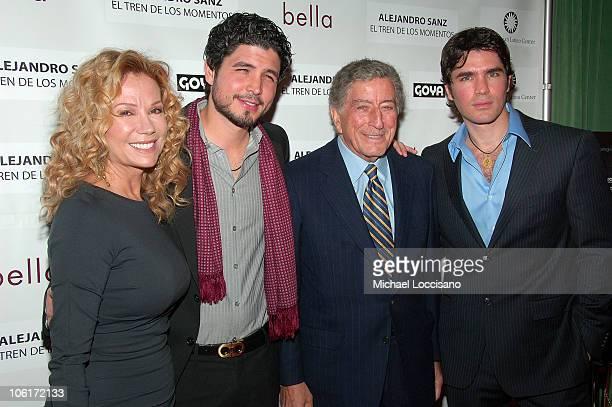 Kathie Lee Gifford director Alejandro Monteverde singer Tony Bennet and actor/producer Eduardo Verastegui arrive to People En Espanol's honoring of...