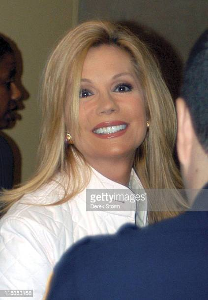 Kathie Lee Gifford during Kathie Lee Gifford and Morgan Spurlock Leave the 'Today Show' Studio at Rockefeller Plaza in New York City New York United...