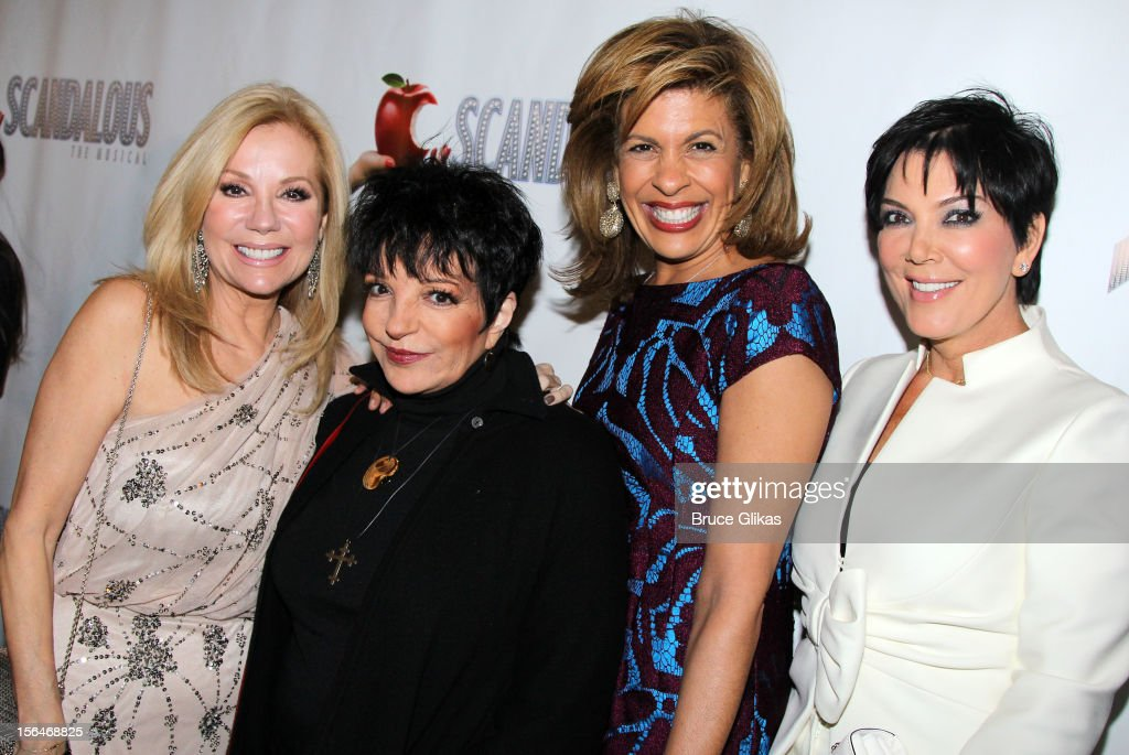 Kathie Lee Gifford Liza Minnelli Hoda Kotb and Kris Jenner attend the opening night of 'Scandalous' on Broadway at the Neil Simon Theatre on November...