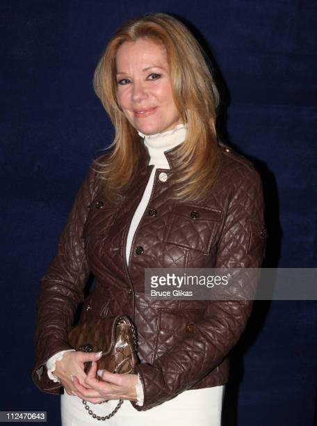 Kathie Lee Gifford poses backstage at 'White Christmas' on Broadway at The Marquis Theater on December 17 2008 in New York City