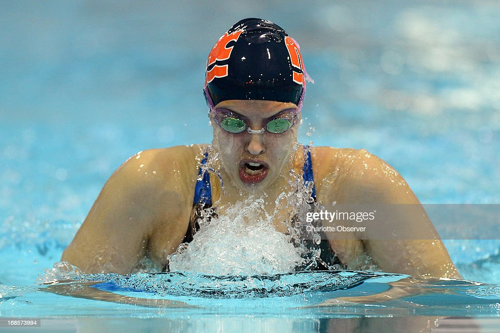 Kathleen Baker of SwimMAC Carolina competes in the women's 200m Breaststroke at the Mecklenburg County Aquatic Center in Charlotte, North Carolina, on Saturday, May 11, 2013.