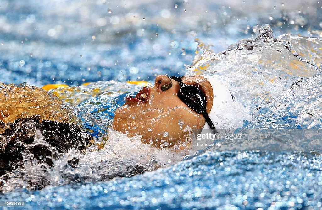 <a gi-track='captionPersonalityLinkClicked' href=/galleries/search?phrase=Kathleen+Baker+-+Swimmer&family=editorial&specificpeople=16070529 ng-click='$event.stopPropagation()'>Kathleen Baker</a> of the USA competes in the Women's 200m Backstroke heats during day three of the 12th FINA World Swimming Championships (25m) at the Hamad Aquatic on December 5, 2014 in Doha, Qatar.