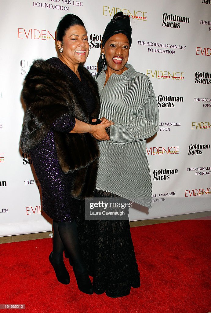 <a gi-track='captionPersonalityLinkClicked' href=/galleries/search?phrase=Kathleen+Battle&family=editorial&specificpeople=233514 ng-click='$event.stopPropagation()'>Kathleen Battle</a> and <a gi-track='captionPersonalityLinkClicked' href=/galleries/search?phrase=Jessye+Norman&family=editorial&specificpeople=239491 ng-click='$event.stopPropagation()'>Jessye Norman</a> attend the Evidence, A Dance Company 9th annual Torch Ball at The Plaza Hotel on March 25, 2013 in New York City.