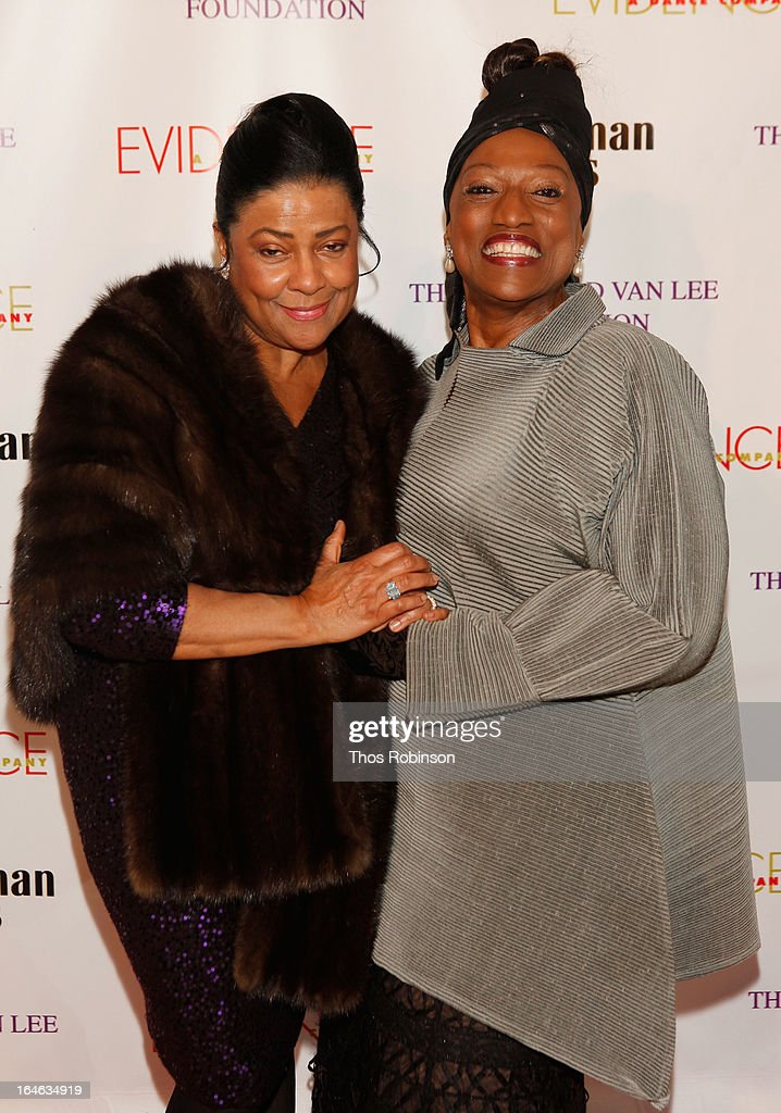 <a gi-track='captionPersonalityLinkClicked' href=/galleries/search?phrase=Kathleen+Battle&family=editorial&specificpeople=233514 ng-click='$event.stopPropagation()'>Kathleen Battle</a> and <a gi-track='captionPersonalityLinkClicked' href=/galleries/search?phrase=Jessye+Norman&family=editorial&specificpeople=239491 ng-click='$event.stopPropagation()'>Jessye Norman</a> attend the Torch Ball hosted by Evidence, A Dance Company at The Plaza Hotel on March 25, 2013 in New York City.