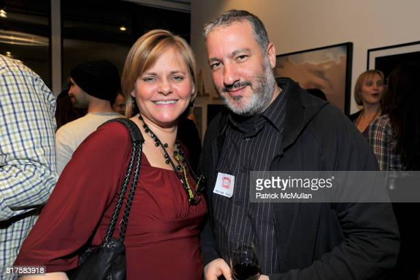 Kathleen Gillespie and Spencer Tunick attend SLIDELUCK Auction and Fundraiser Hosted by DJ SPOOKY and PATRICK MCMULLAN at Sandbox Studio on December...
