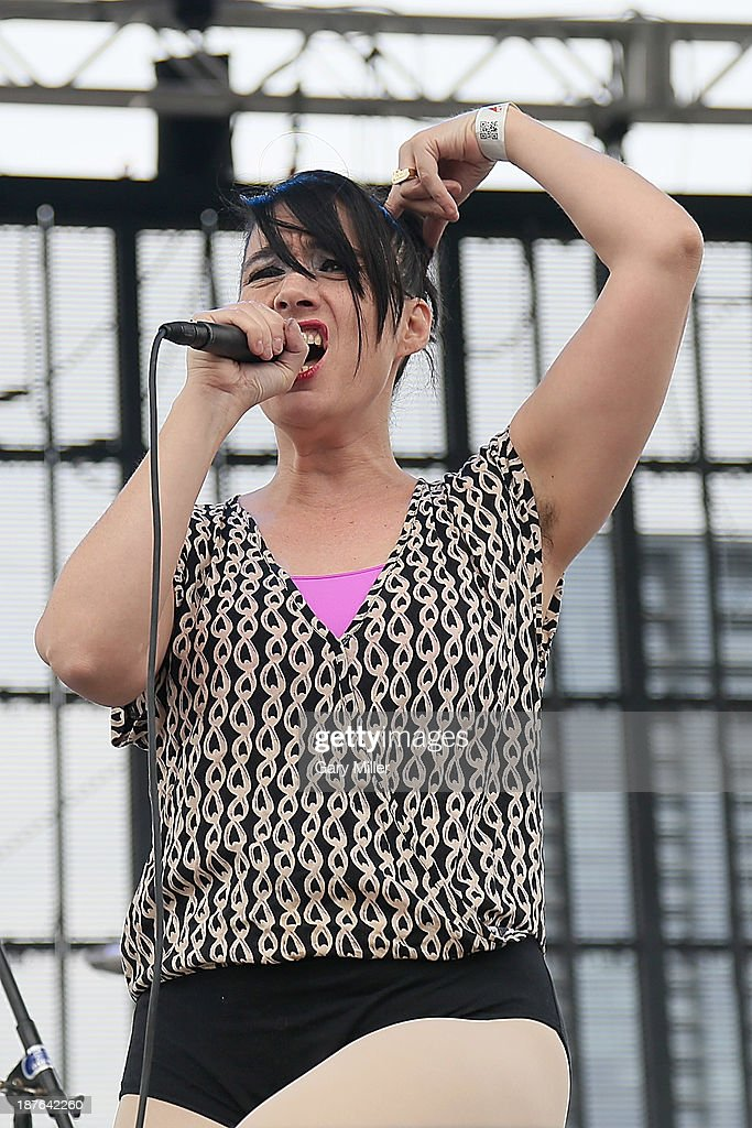 Kathleen Hanna of The Julie Ruin performs in concert during the final day of Fun Fun Fun Fest at Auditorium Shores on November 10, 2013 in Austin, Texas.