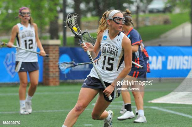 Kathleen Jaeger of College of New Jersey during the Division III Women's Lacrosse Championship held at Kerr Stadium on May 28 2017 in Salem Virginia...