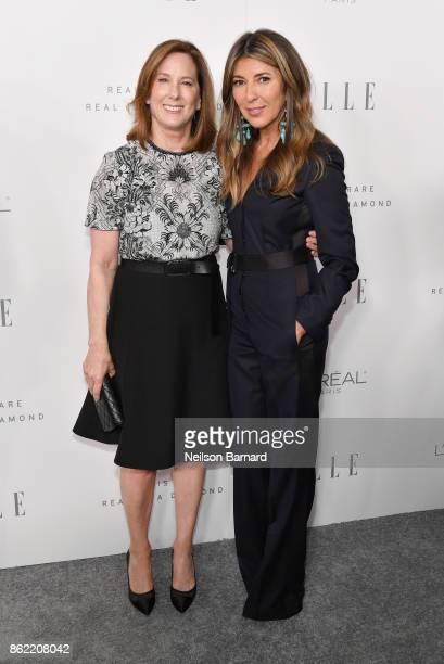 Kathleen Kennedy and ELLE EditorinChief Nina Garcia attend ELLE's 24th Annual Women in Hollywood Celebration presented by L'Oreal Paris Real Is Rare...