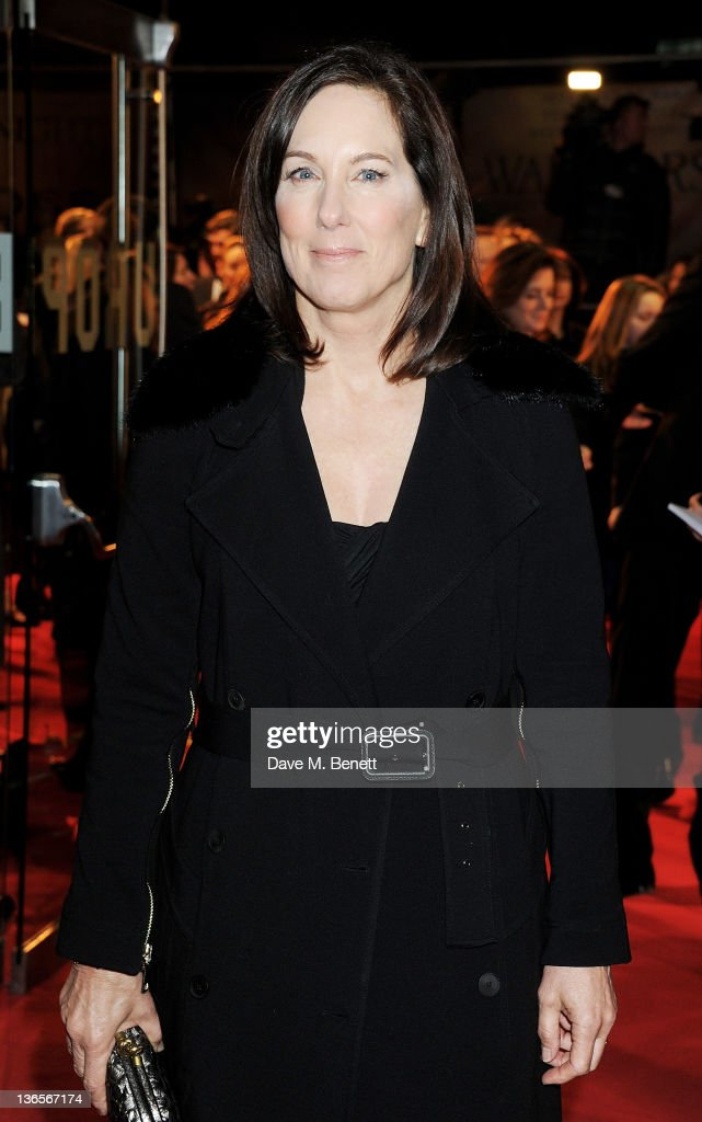 Kathleen Kennedy arrives at the UK Premiere of 'War Horse' at Odeon Leicester Square on January 8, 2012 in London, England.