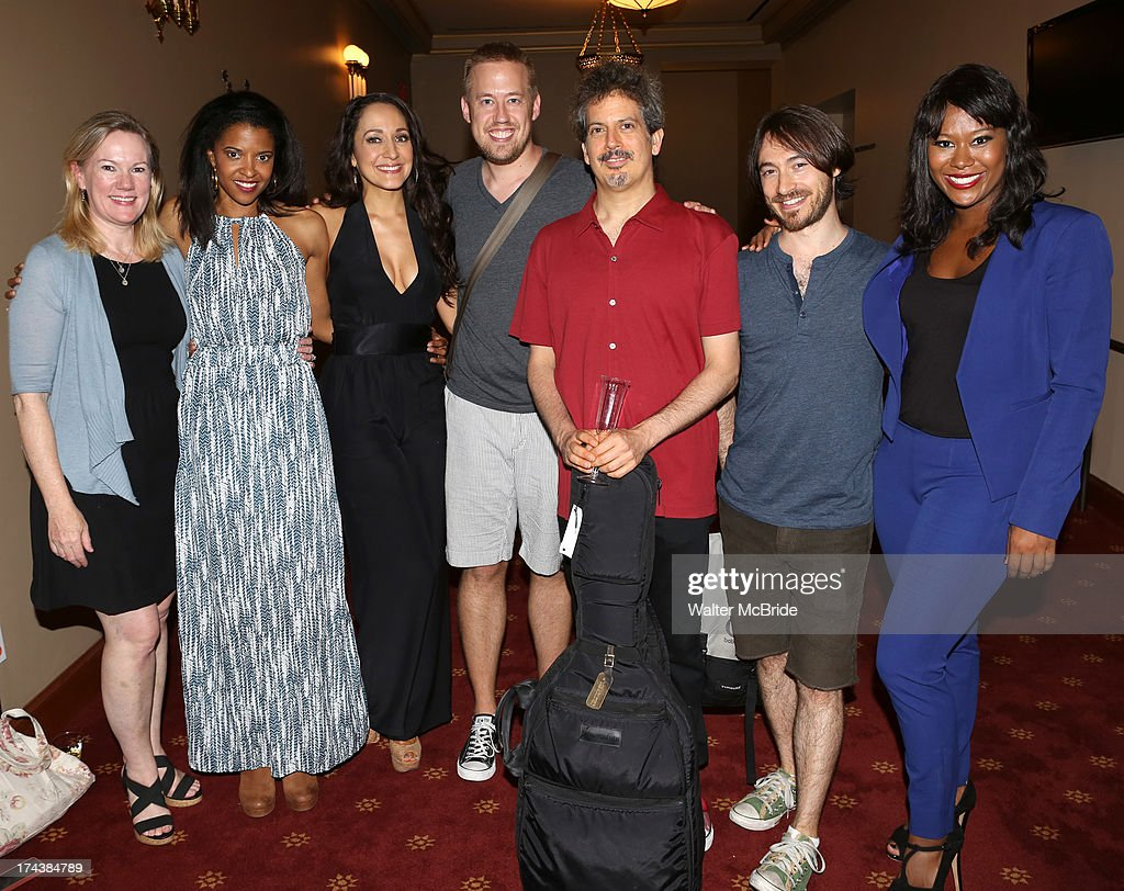<a gi-track='captionPersonalityLinkClicked' href=/galleries/search?phrase=Kathleen+Marshall&family=editorial&specificpeople=233525 ng-click='$event.stopPropagation()'>Kathleen Marshall</a>, Renee Elise Goldsberry, Jennifer Sanchez, Chris Fenwick, Alec Berlin, Damien Bassman and Christina Sajous attend the Opening Night Performance Reception for the Encores! Off-Center Production of 'I'm Getting My Act Together And Taking It On The Road' Opening Night Reception at New York City Center on July 24, 2013 in New York City.