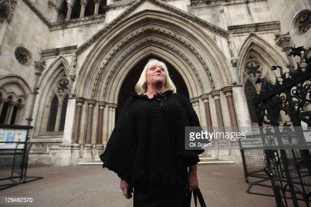 Kathleen McCarthy a resident of the illegal Dale Farm travellers camp near Basildon leaves the High Court on October 17 2011 in London England Lord...