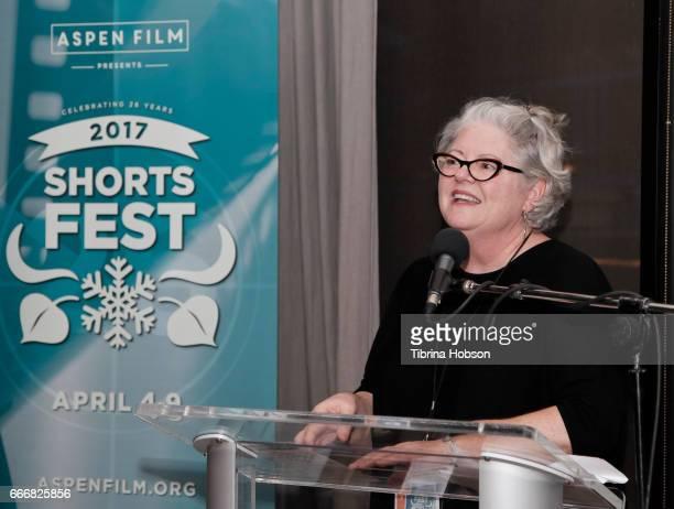 Kathleen McInnis attends the 2017 Aspen Shortsfest Awards Dinner on April 9 2017 at Aspen Kitchen in Aspen Colorado