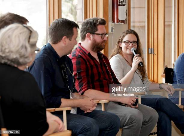 Kathleen McInnis Florian Weghorn Luke Rivett John Canciani and Heidi Zwicker attend the 2017 Aspen Shortsfest filmmakers master class on April 7 2017...