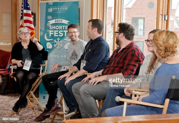 Kathleen McInnis Florian Weghorn Luke Rivett John Canciani Heidi Zwicker and Ania Trzebiatowska attend the 2017 Aspen Shortsfest filmmakers master...