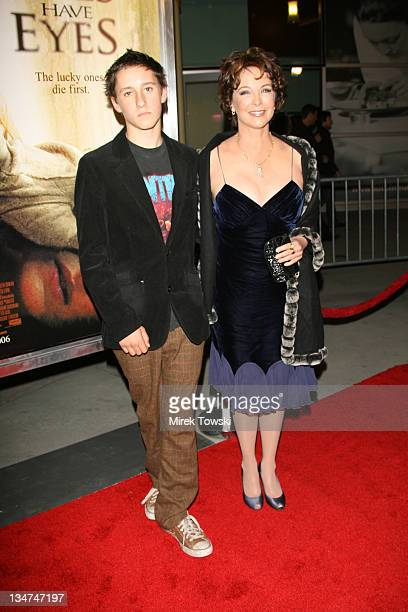 Kathleen Quinlan and her son during 'The Hills Have Eyes' Los Angeles Premiere Red Carpet Arrivals at ArcLight Cinemas in Hollywood California United...